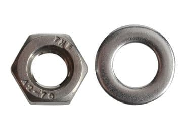 Hexagonal Nuts & Washers A2 Stainless Steel M6 ForgePack 20